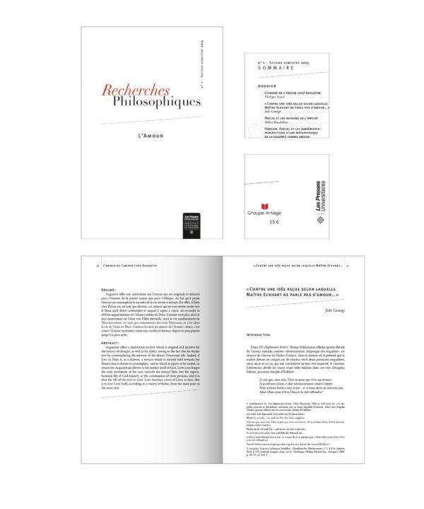 Recherche Philosophiques – L'amour